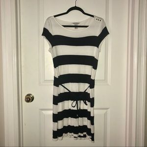 H&M Navy and White Stripe Dress/Tunic